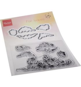 #4 Clear Stamp & die set Tiny's Fall Leaves