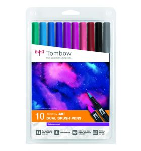 Tombow 10 ABT Dual brush pennen - Galaxy colors