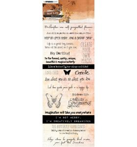 Chipboard elements - Just Lou butterfly collection nr. 07
