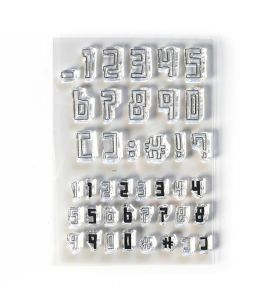 ECD Clear stamps - Boxy numbers
