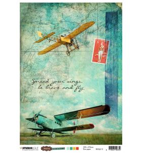 Rice Paper Sheet - Just Lou aviation collection nr. 13