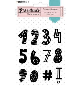Clear stamps A6 - Numbers planner essentials nr. 05