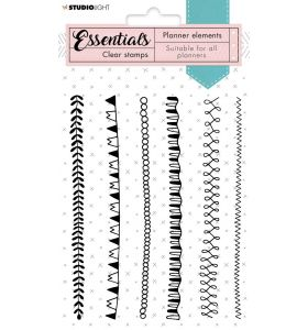 Clear stamps A6 - Borders planner essentials nr. 06