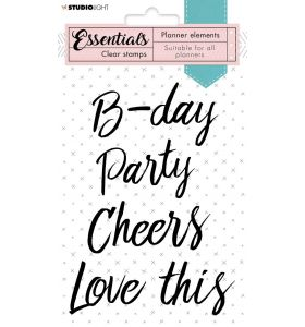 Clear stamps A6 - Text party planner essentials nr. 08