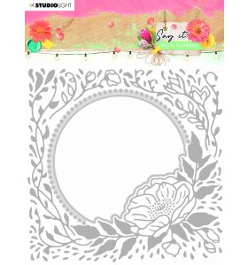 Cutting & embossing folder - Say it with flowers nr. 12