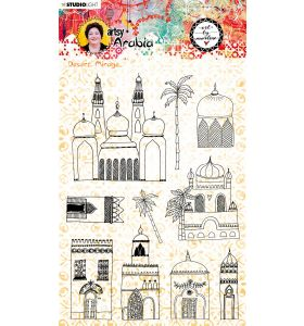 Clear stamp A5 - Art by Marlene Artsy Arabia nr. 58