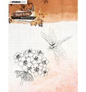 Clear stamp - Just Lou butterfly collection nr. 15