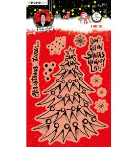 Clear stamp - Art by Marlene Christmas Tree nr. 82