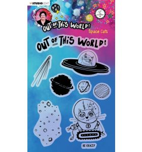 Clear stamp A5 Space cats - Out of this world nr. 71