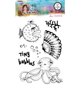 Clear stamp A5 Sea creatures- So-Fish-Ticated nr. 13