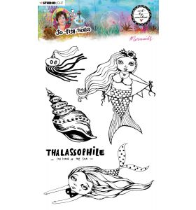 Clear stamp A5 Mermaids- So-Fish-Ticated nr. 14