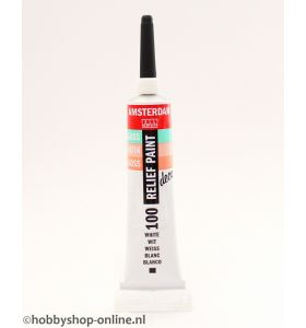 Amsterdam deco Relief Paint 100 wit 20 ml