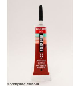 Amsterdam deco Relief Paint 422 roodbruin 20 ml