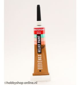 Amsterdam deco Relief Paint 811 brons 20 ml