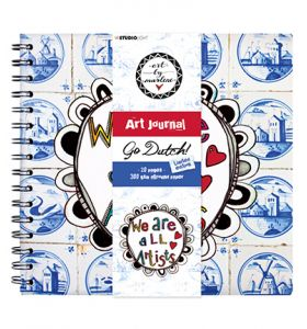 Art journal nr.10 met ringband - Art by Marlene Go Dutch