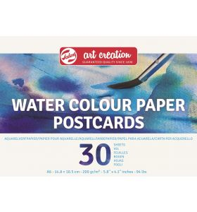 Art creation aquarelpapier postcards 30 vel