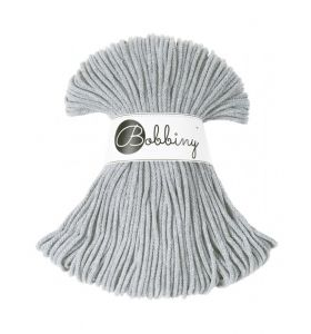 Bobbiny junior 3 mm - silver grey