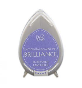 Brilliance dew drop ink pad pearlescent lavender