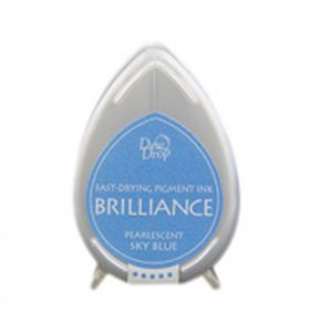 Brilliance dew drop ink pad pearlescent sky blue