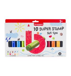 Bruynzeel 10 super stamp felt tips