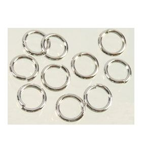Buigring 12 mm silverplated 10 stuks