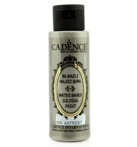 Cadence gilding paint anthracite silver 70 ml