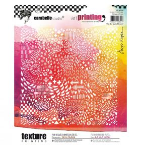 Art printing rubber texture plate carré - for the love of layers