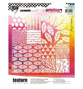Art printing rubber texture plate carré - patchwork