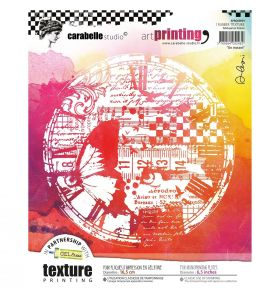 Art printing rubber texture plate rond - un instant