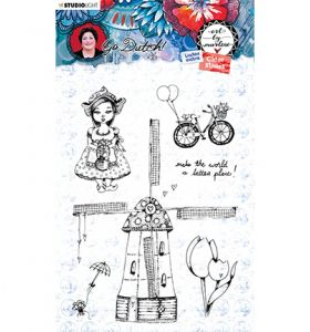 Clear stamp - Art by Marlene Go Dutch nr. 55
