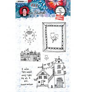 Clear stamp - Art by Marlene Go Dutch nr. 56