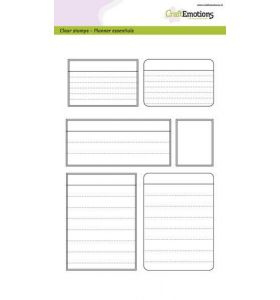Clearstamps A5 Planner essentials - kaders