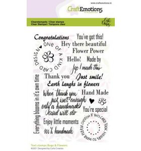 Clearstamps A6 - Bugs & flowers tekst (Eng) Carla Creaties