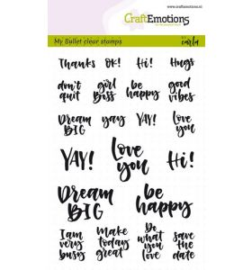 Clearstamps A6 Bullet journal - quotes (Eng) Carla Kamphuis
