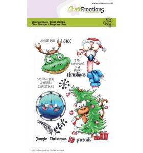 Clearstamps A6 - Jungle christmas Carla Creaties