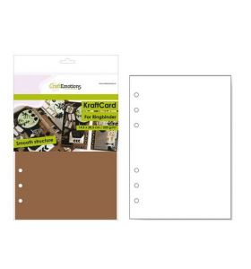 CraftEmotions kraft card voor ringband planner A5 bruin 12 vel