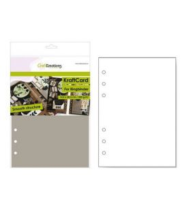 CraftEmotions kraft card voor ringband planner A5 lichtbruin 12 vel