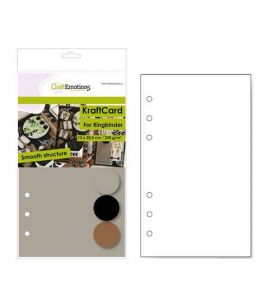 CraftEmotions kraft card voor ringband planner mix 12 vel