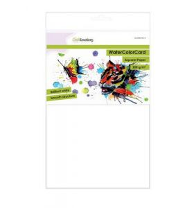 CraftEmotions Watercolor card briljant wit 200g A4 10 vel