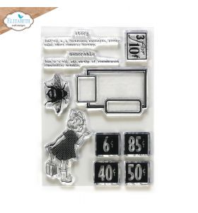 ECD Clear stamps - Art journal chick