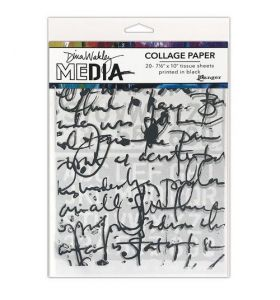 Dina Wakley collage paper - text collage