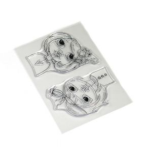 ECD Clear stamps - Floral girls