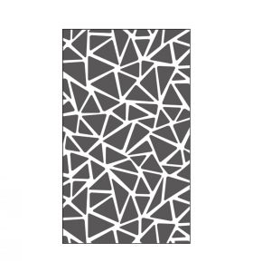 Embossing folder 3 x 5 inch - triangle texture
