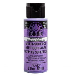 Folkart multi-surface glitter acrylverf 2962 royal purple 59 ml