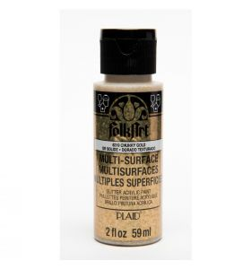 Folkart multi-surface glitter acrylverf 6319 chunky gold 59 ml