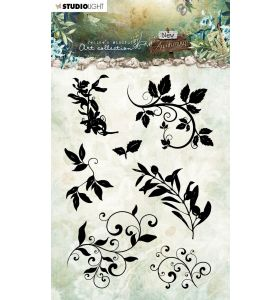 Clear stamps A6 JMA New awakening - Silhouettes leaves/swirls nr. 21