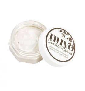 Nuvo crackle mousse 1397n Russian white