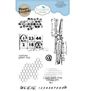 ECD Clear stamps - Background stamps 1