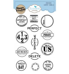 ECD Clear stamps - Circle labels