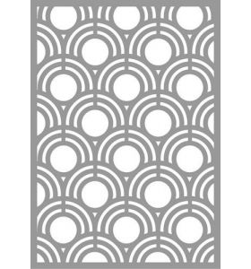 Mask stencil - Abstract shell pattern
